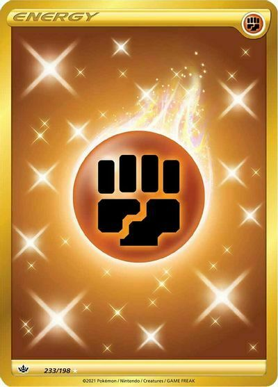 Fighting Energy Secret Rare 233/198 NM M- Chilling Reign Pokemon
