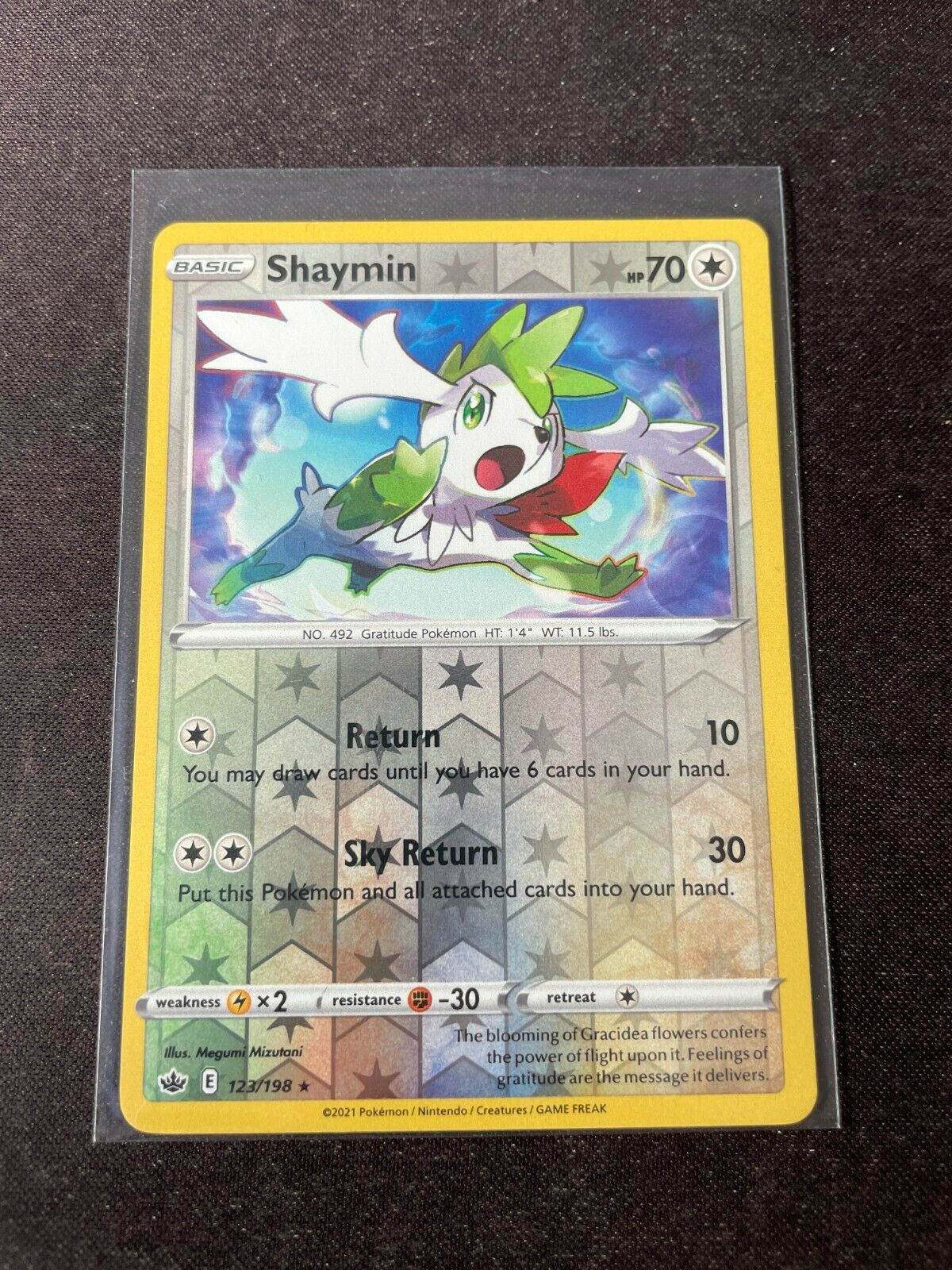 Pokemon TCG Chilling Reign 123/198 Shaymin Card Fresh Reverse Holo Mint Rare