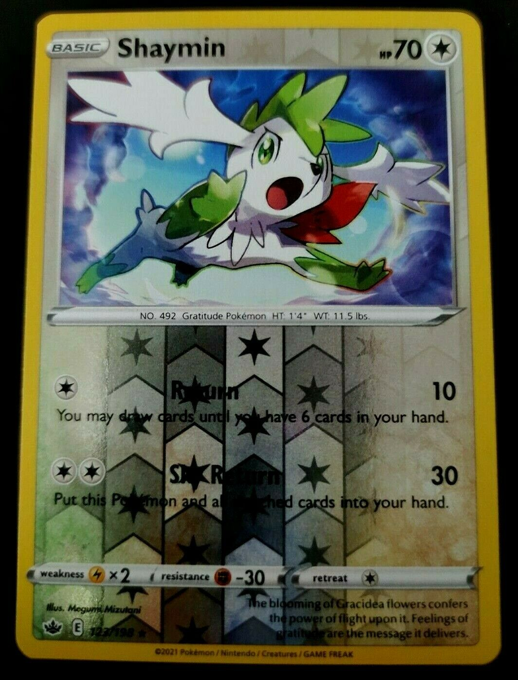 Pokémon Sword & Shield Chilling Reign Shaymin - 123/198 Reverse Holo Rare