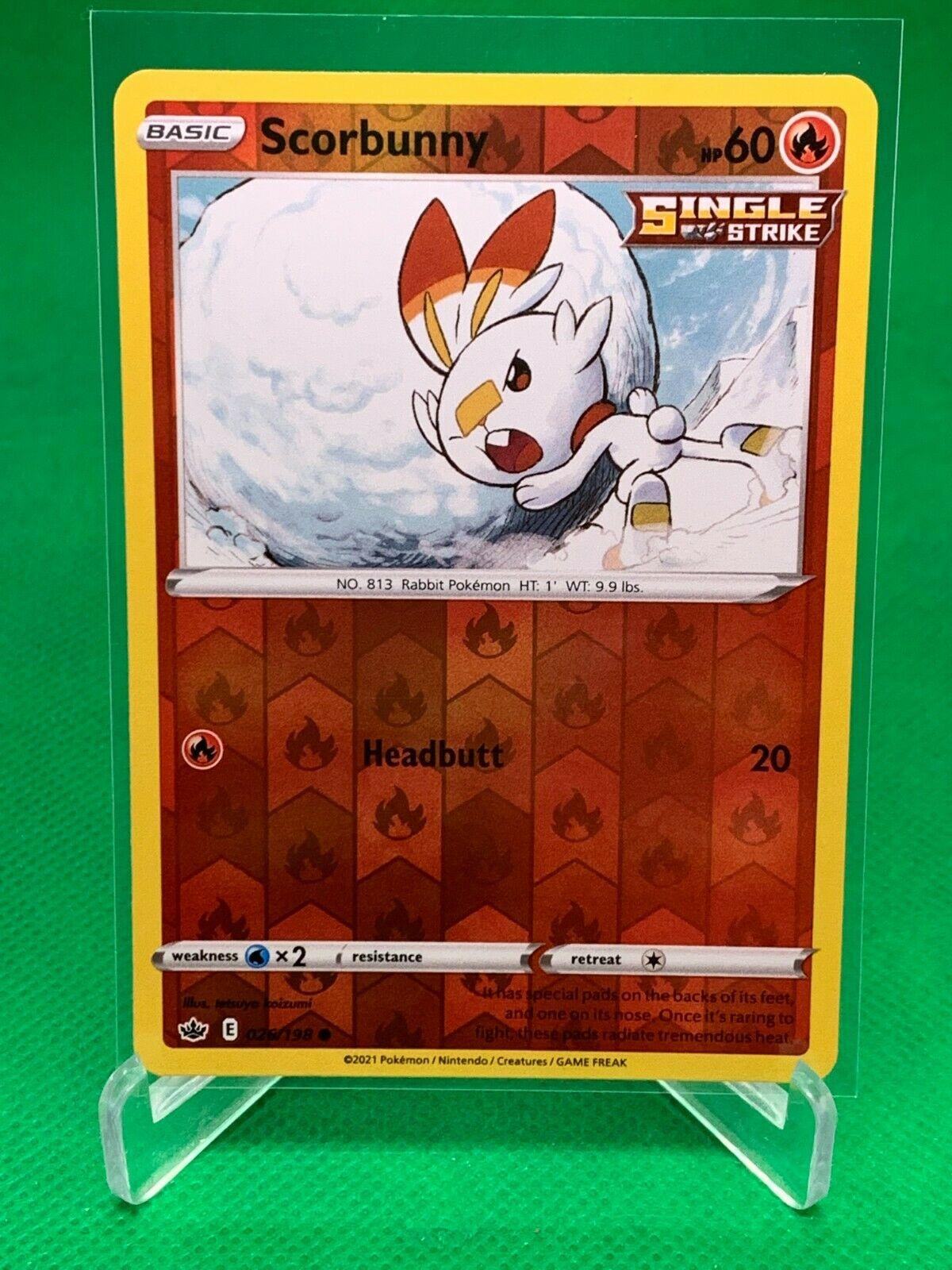 Pokemon - Scorbunny - Chilling Reign - 026/198 - Reverse Holo
