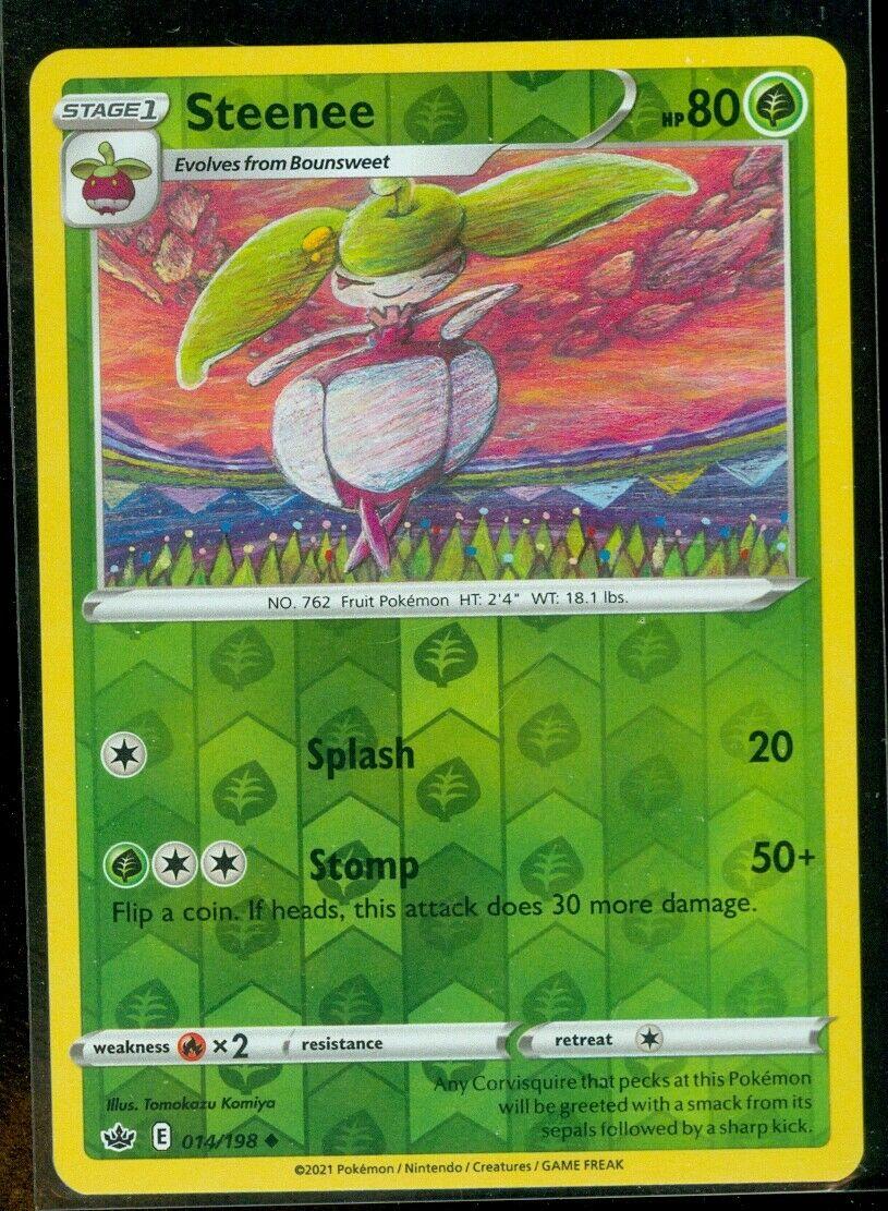 Pokemon STEENEE 014/198 Chilling Reign - Rev Holo - - MINT