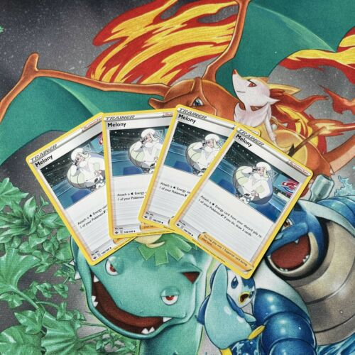 Melony 146/198 Chilling Reign Trainer Supporter Playset (4) Pokemon TCG