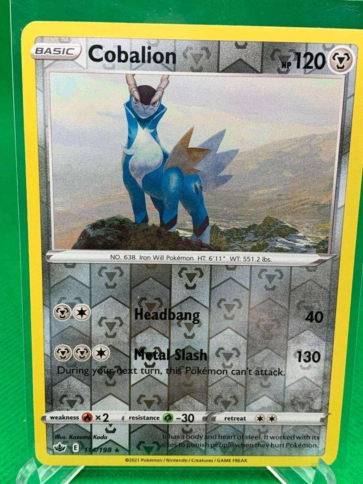 Pokemon - Cobalion - Chilling Reign - 114/198 -  Reverse Holo Rare
