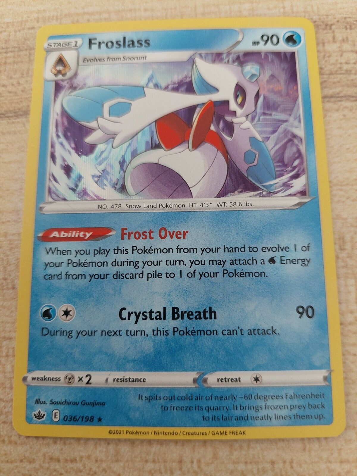 Pokemon TCG Chilling Reign - Froslass 036/198 (Holo)