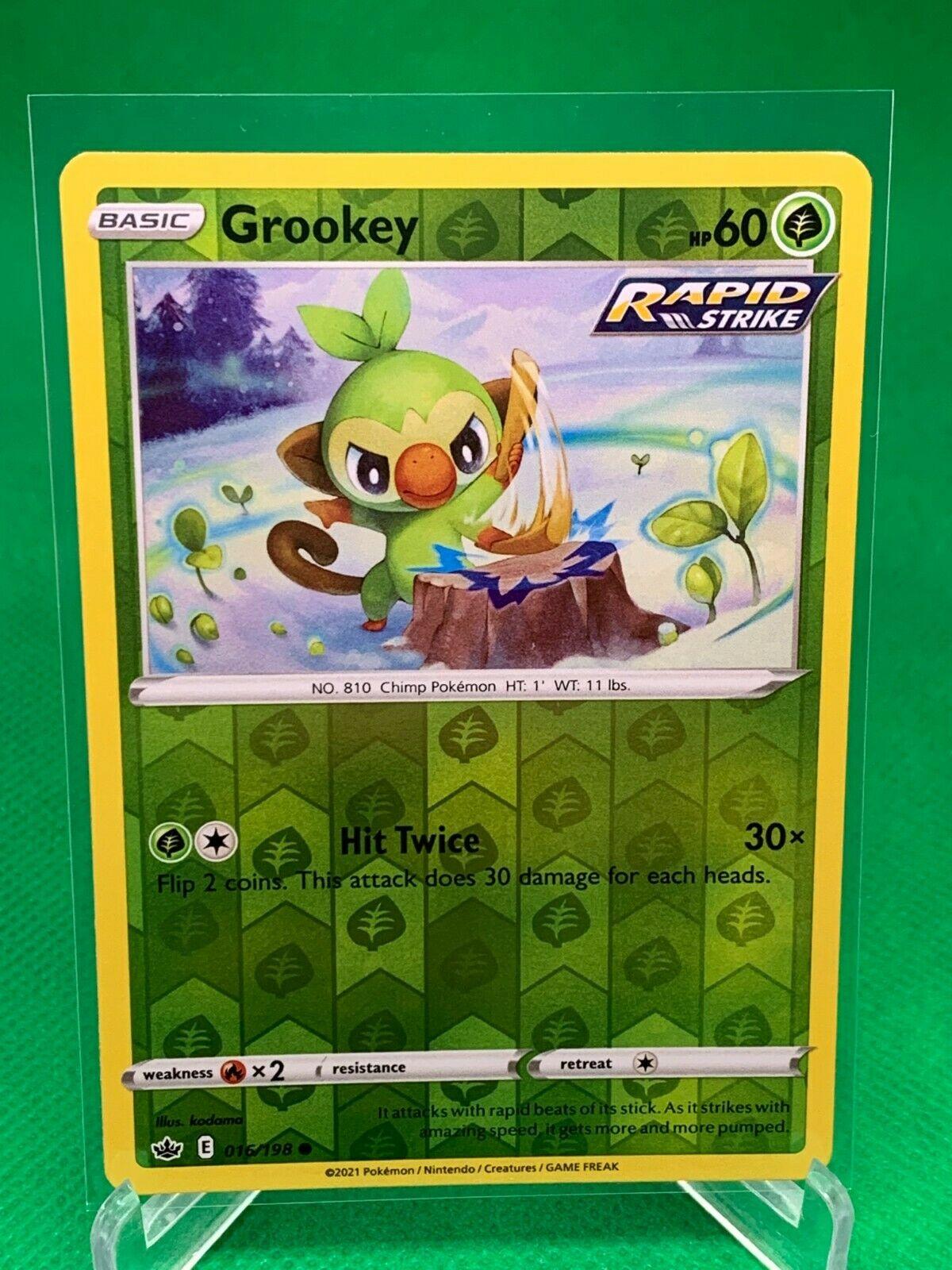 Pokemon - Grookey - Chilling Reign - 016/198 - Reverse Holo