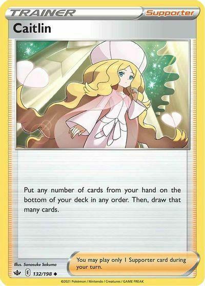 4x Caitlin 132/198 NM M- Chilling Reign Pokemon