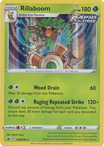 Pokemon Chilling Reign Rillaboom Holo Rare 018/198