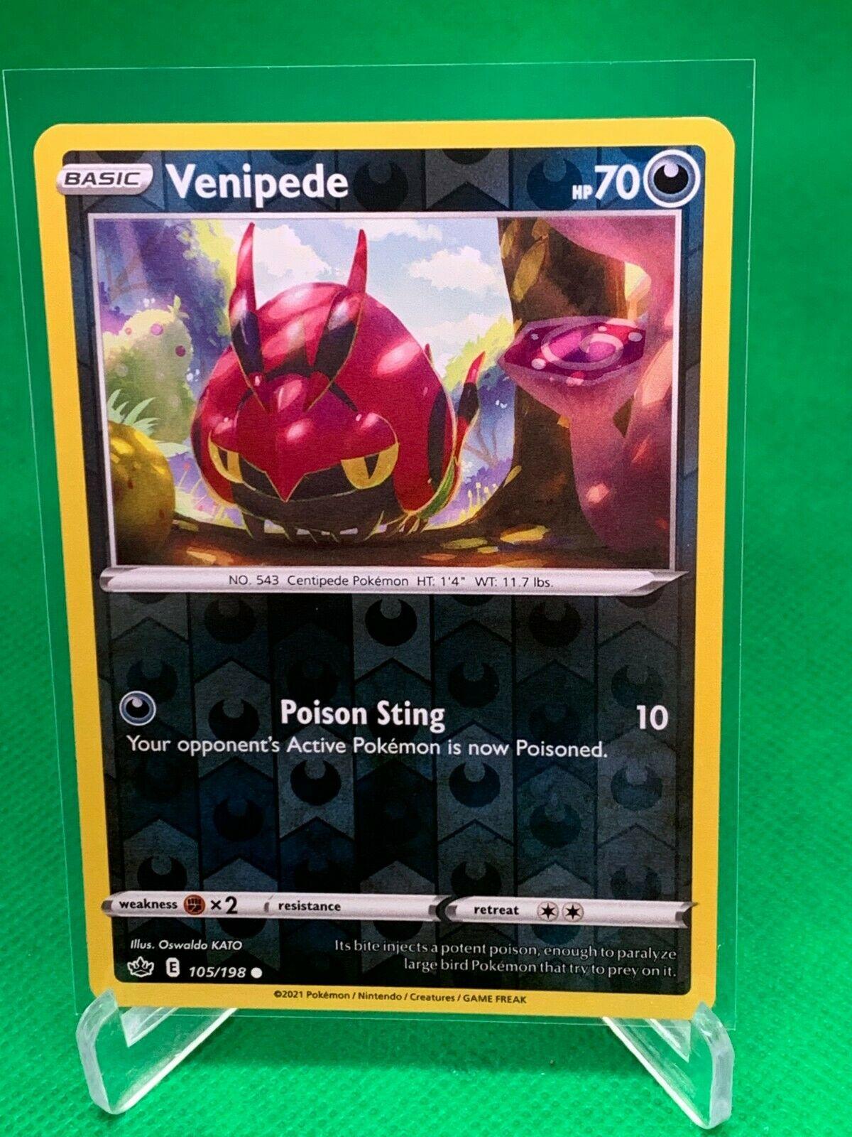 Pokemon - Venipede - Chilling Reign - 105/198 - Reverse Holo