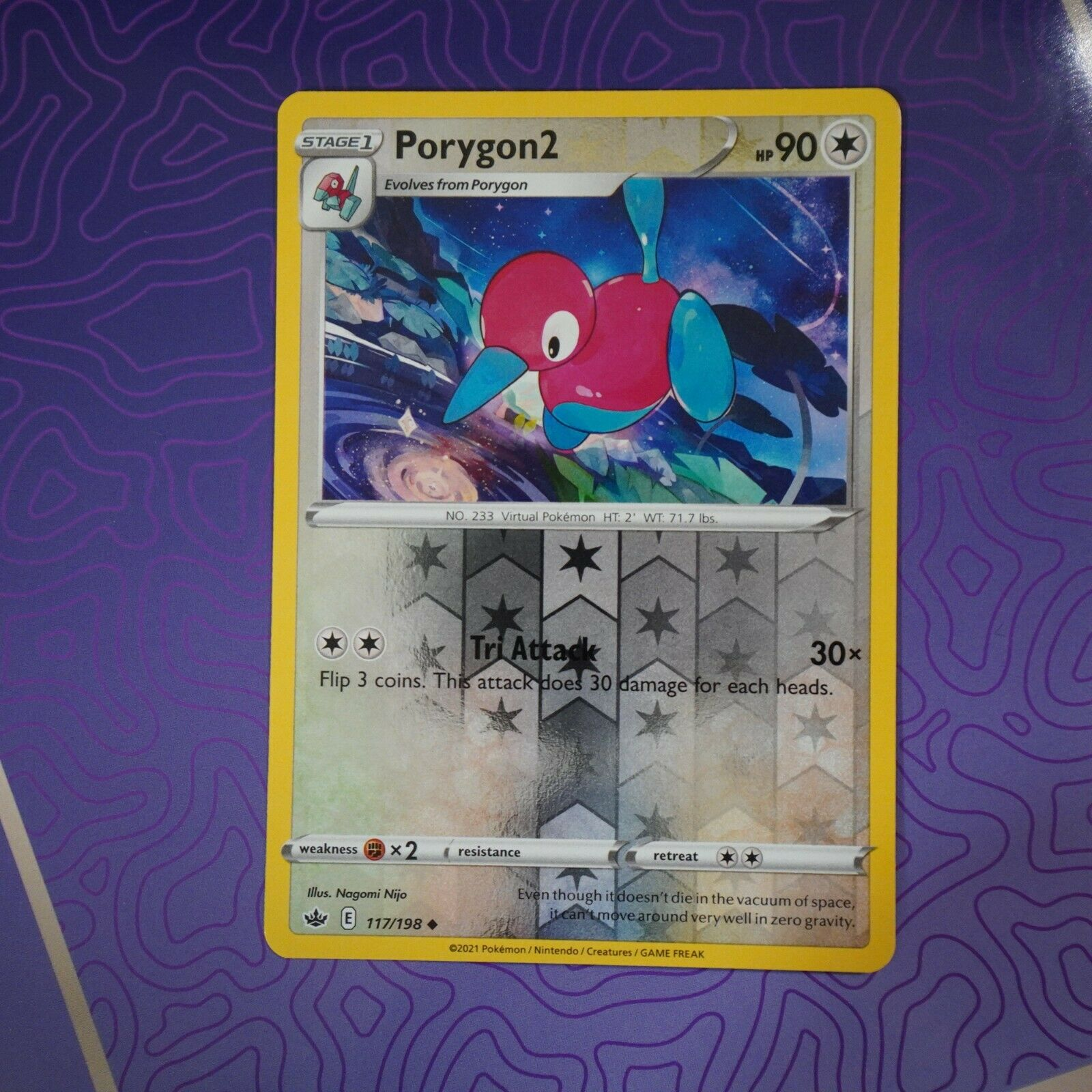 Porygon2 117/198 Reverse Holo | NM | Chilling Reign