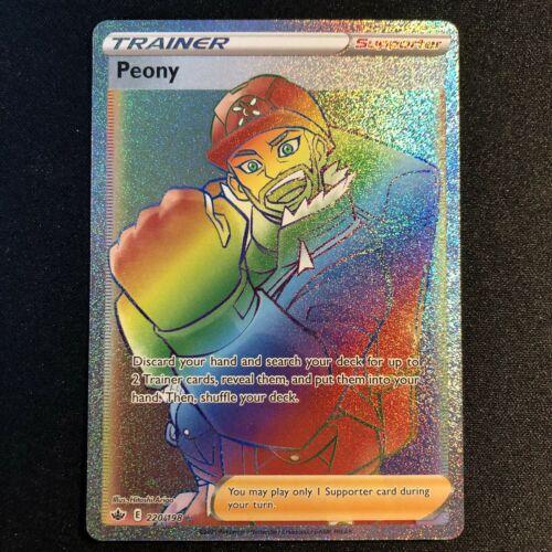 Pokemon Chilling Reign Peony Rainbow Secret Rare Full Art Trainer 220/198 NM/M