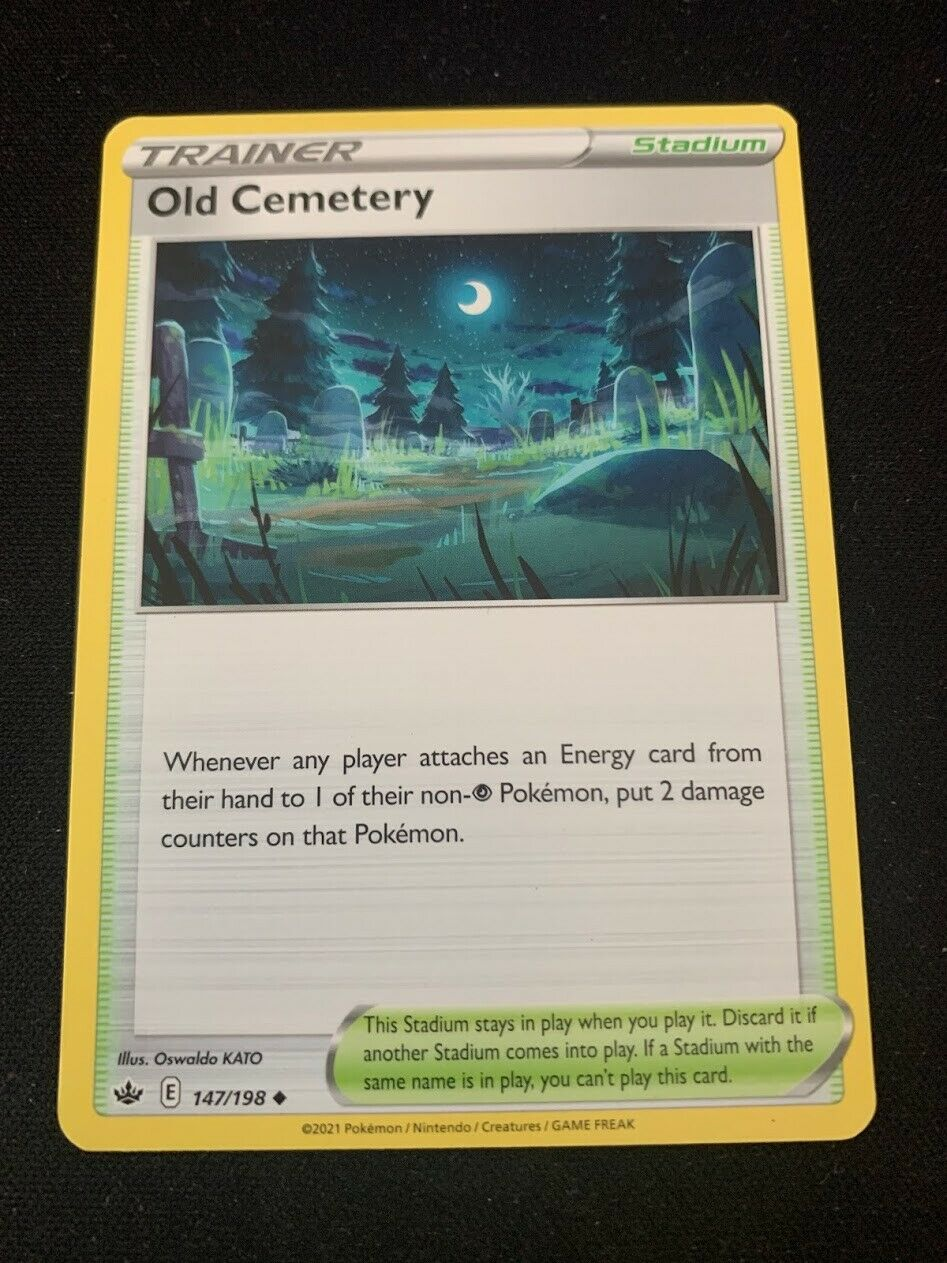 Pokemon Old Cemetery 147/198 Uncommon Chilling Reign Near Mint