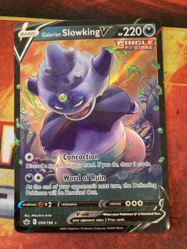 x1 Galarian Slowking V - 099/198 - Ultra Rare Pokemon SS06 Chilling Reign M/NM