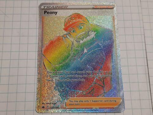Pokemon  - Peony - 220/198 - Secret Rare - Chilling Reign  - NM/M
