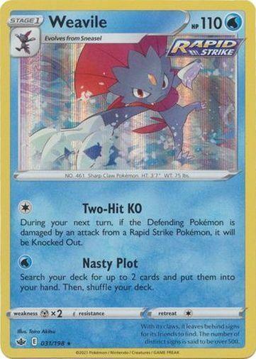 Pokemon Chilling Reign Weavile Holo Rare 031/198
