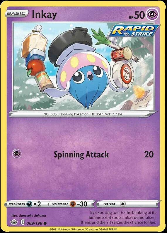 4x Inkay 069/198 NM|M- Chilling Reign Pokemon