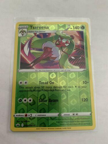 Pokemon Card Chilling Reign Tsareena - 015/198 - Rare Reverse Holo NM/ Mint