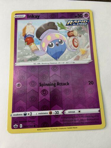 Pokémon TCG Chilling Reign Reverse Holo Inkay 069/198 NM