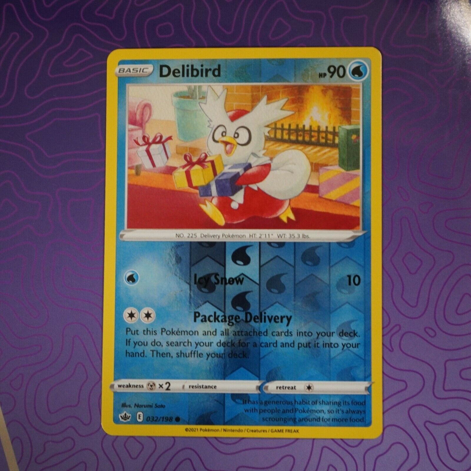 Delibird 032/198 Reverse Holo NM | Chilling Reign