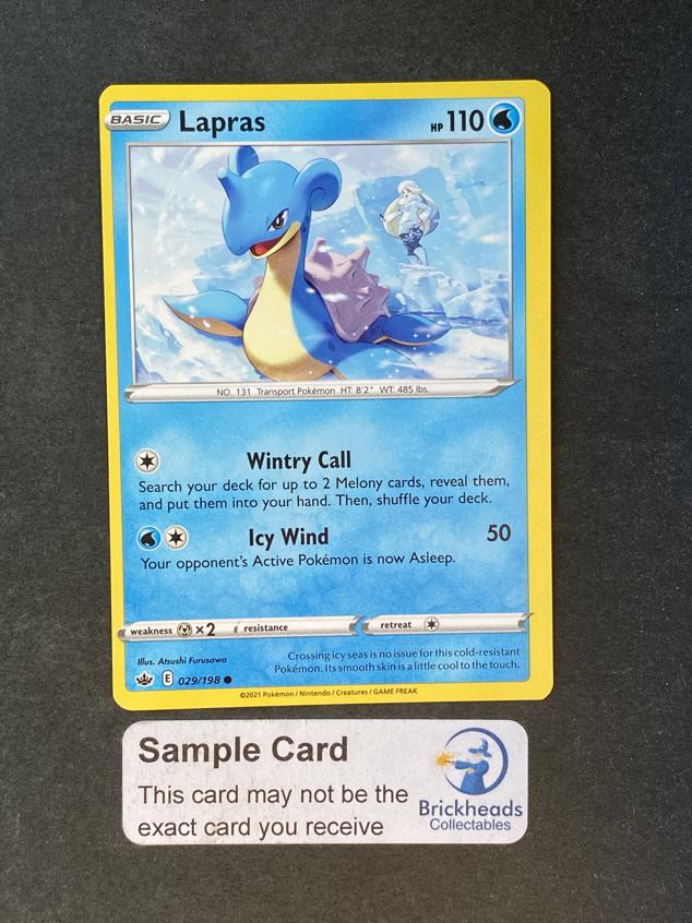 Lapras 029/198 Common   SWSH: Chilling Reign   Pokemon Card