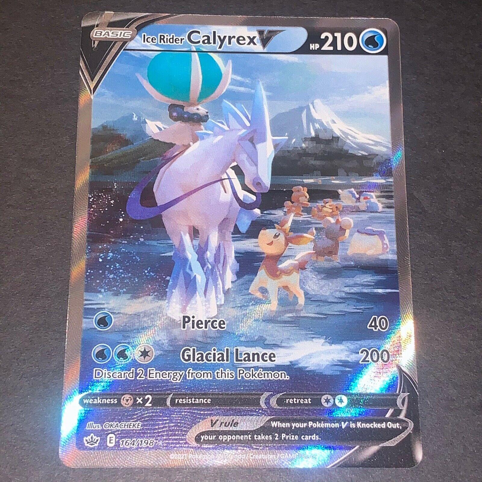 Pokemon S&S Chilling Reign FULL ART Ice Rider Calyrex V 164/198 - Near Mint (NM)