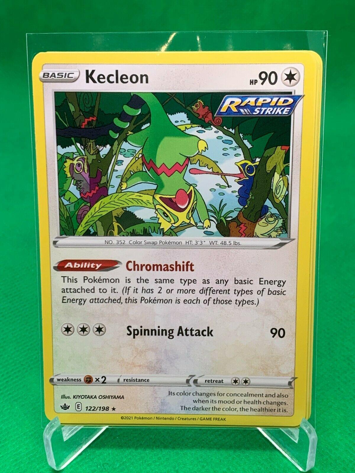 PLAYSET - Pokemon - Kecleon x4 - Chilling Reign - 122/198 - Rare