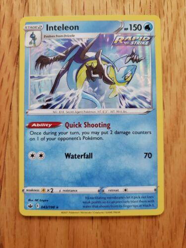 Pokemon : SWSH CHILLING REIGN INTELEON 043/198 RARE HOLO