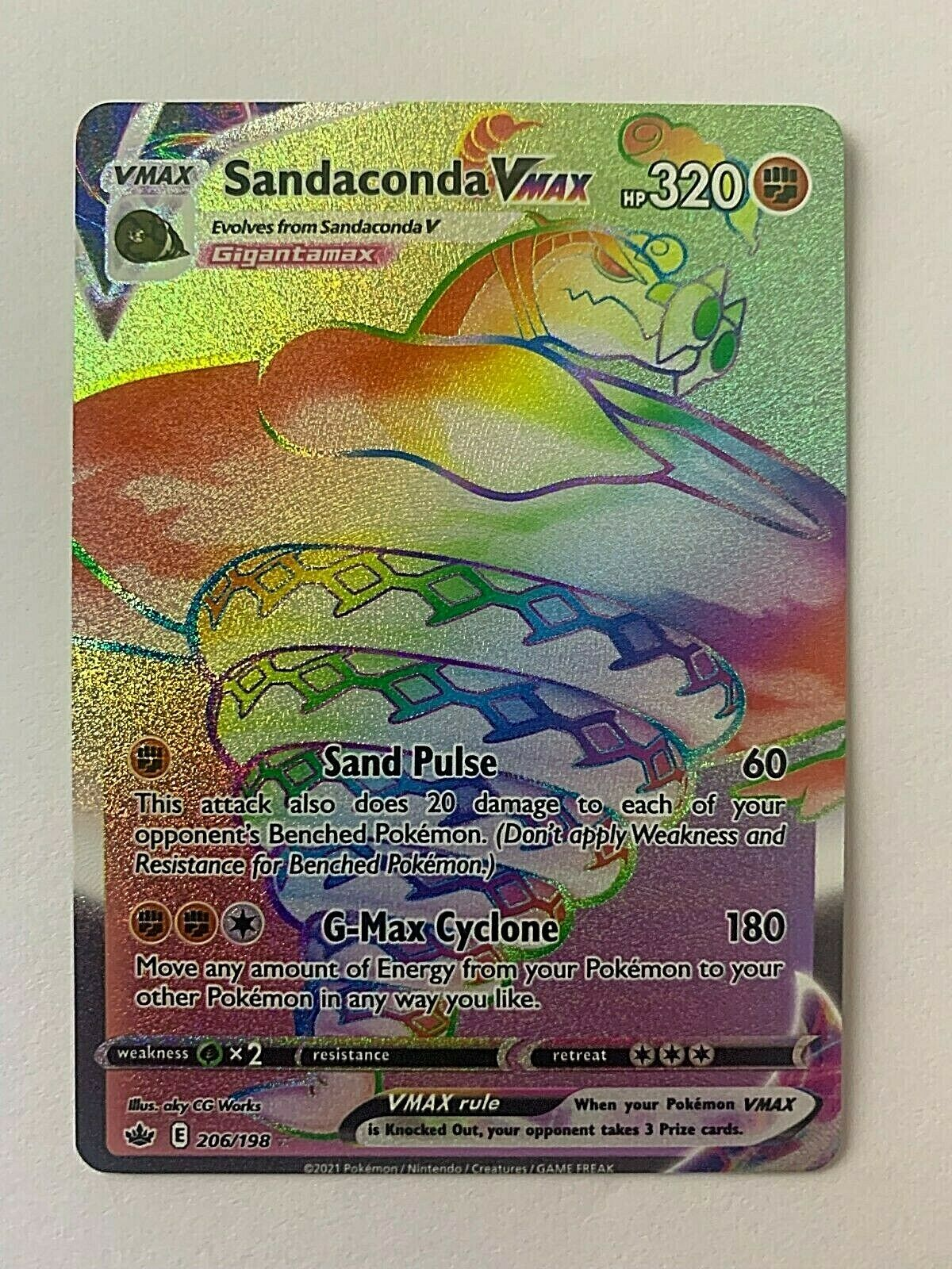 Pokemon - Sandaconda VMAX - Chilling Reign - Secret Rare - 206/198
