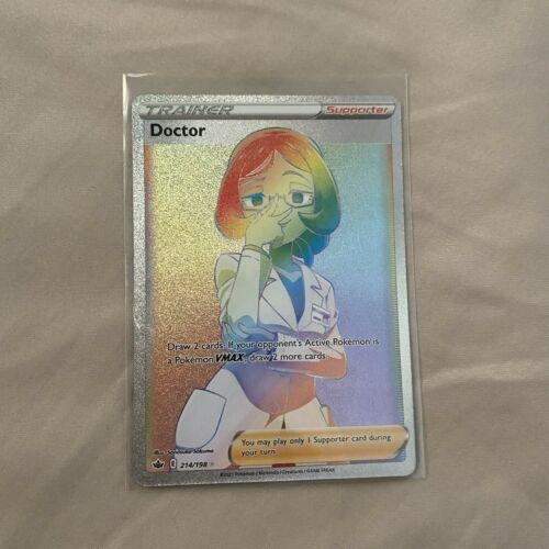 Pokémon TCG Chilling Reign - DOCTOR 214/198 Secret Rare Rainbow MINT PSA 10 Tier