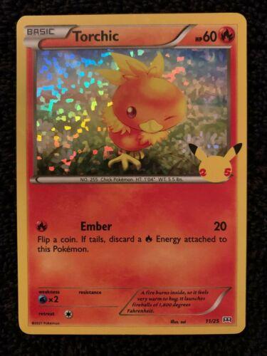 Torchic 11/25 Holo Pokemon Card 25th Anniversary Mint McDonald's