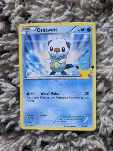 Pokémon card Oshawott 21/25 non holo 25th anniversary McDonald's 2021