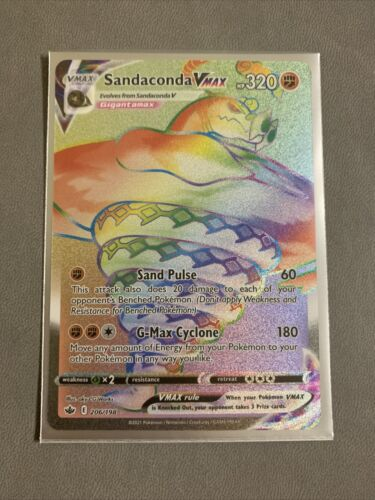 X1 Pokemon: Chilling Reign Sandaconda VMAX SECRET 206/198 IN HAND MINT