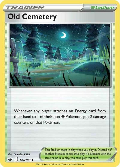 4x Old Cemetery 147/198 NM M- Chilling Reign Pokemon