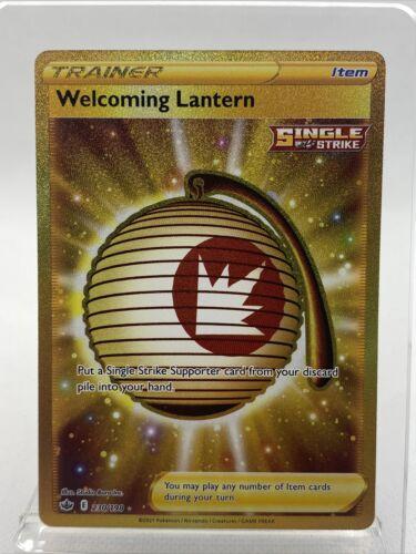 Welcoming Lantern Gold Rare Secret 230/198 Pokemon Chilling Reign