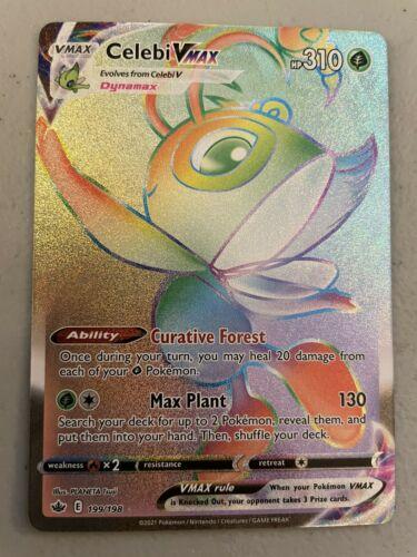 Pokemon TCG - Chilling Reign Celebi VMax Hyper Rare Card - 199/198