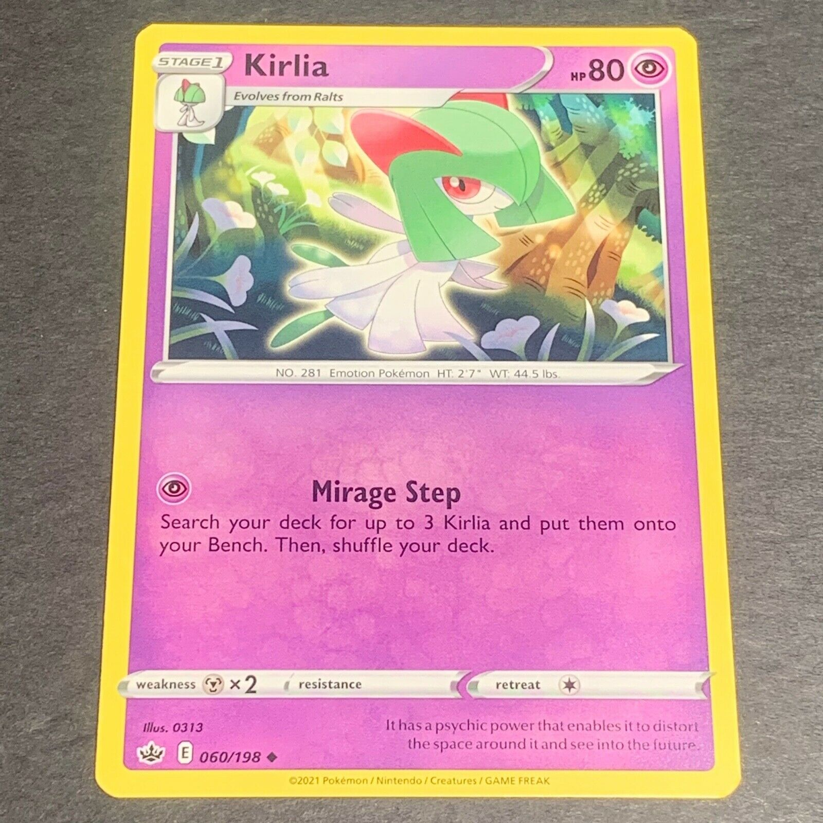 Pokemon S&S Chilling Reign Set UN-COMMON Kirlia 060/198 - Near Mint (NM)