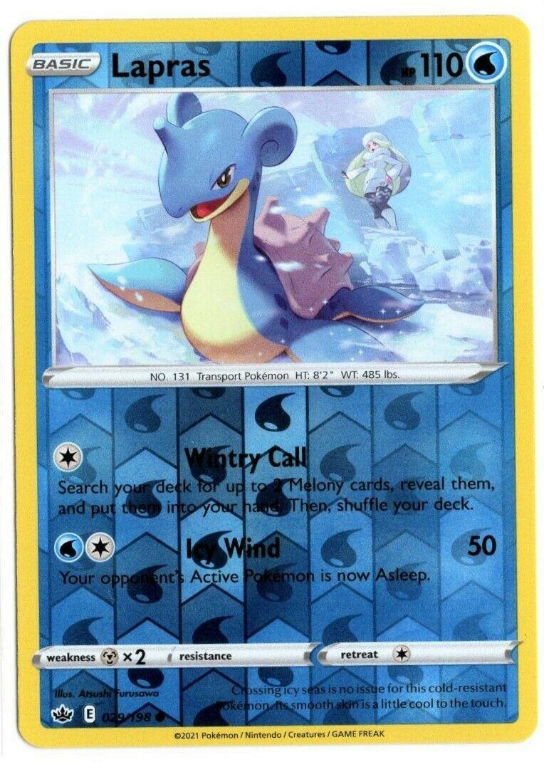 Pokemon TCG Chilling Reign - Lapras 029/198 NM/M - Reverse Holo - *Brand New*