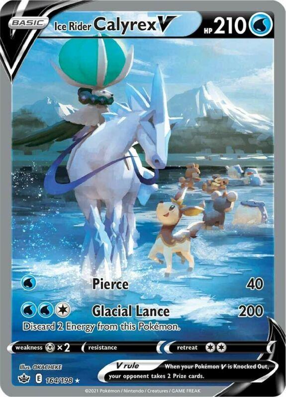 POKEMON TCG SS CHILLING REIGN : Ice Rider Calyrex V 164-198 - ALTERNATE ART