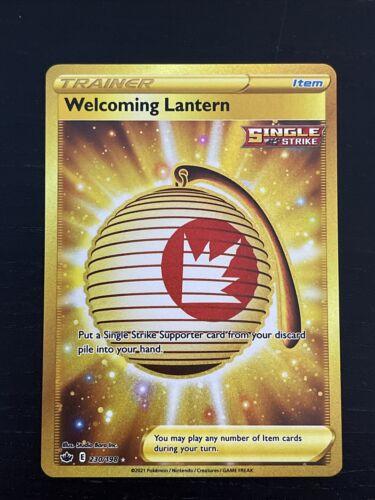 Pokemon Chilling Reign- Welcoming Lantern Gold Secret Rare 230/198