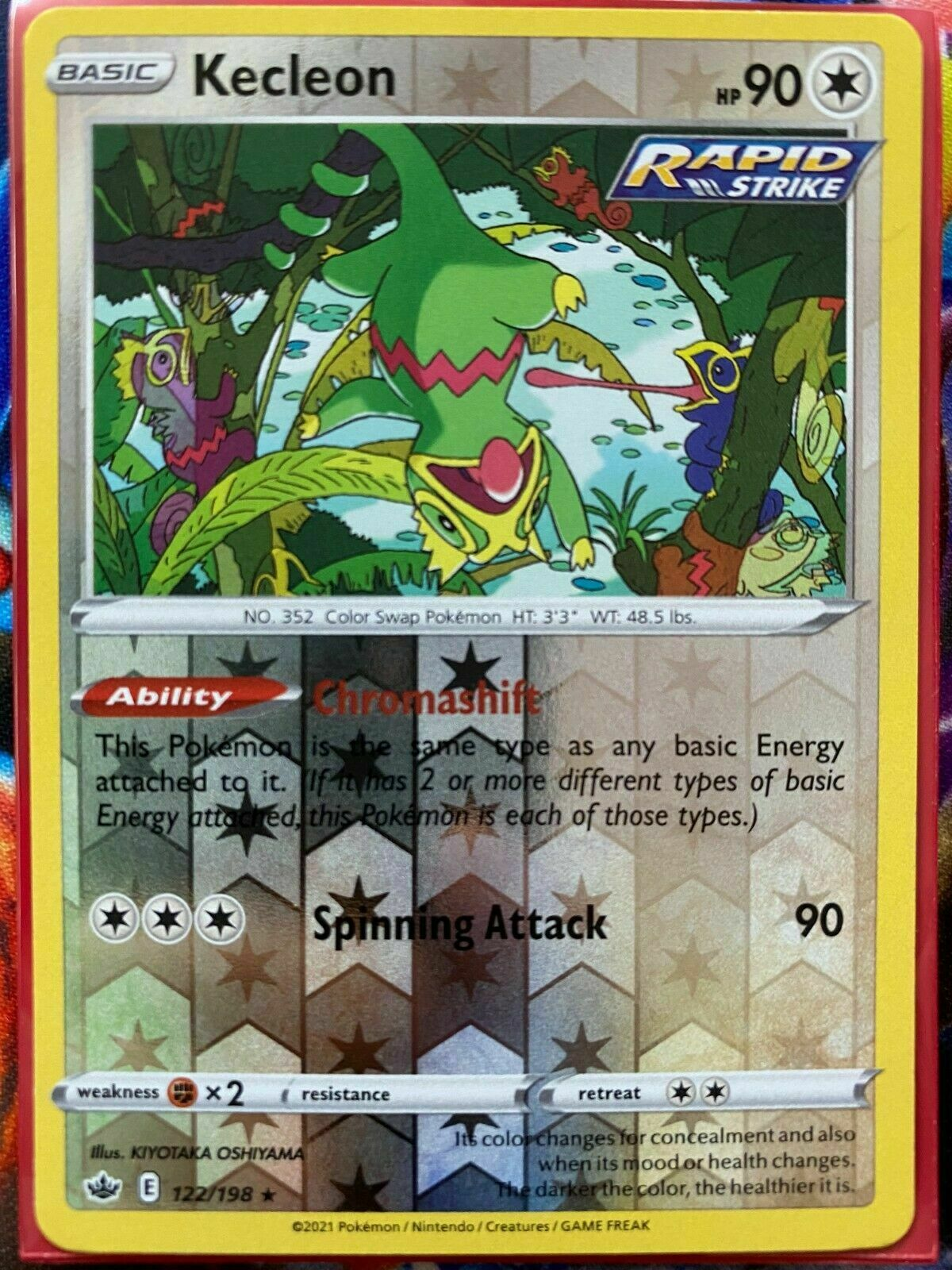 Kecleon 122/198 Reverse Holo SWSH Chilling Reign Pokemon Card MINT