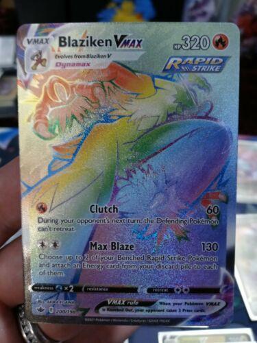 Pokemon Blaziken VMAX Secret Rare 200/198 Full Art NM/M Chilling Reign 💥