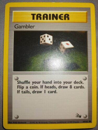 Gambler First Edition 60//62 Fossil Set Common Pokemon Card NM