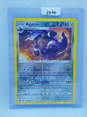 Pokémon TCG Aggron Reverse Holo 111/198 | Chilling Reign | Play/Grade Ready - Image 1