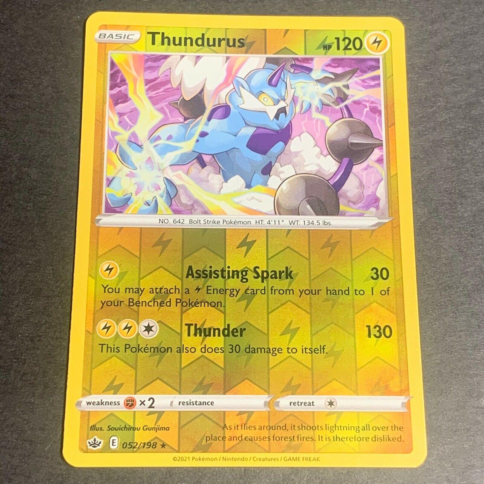 Pokemon S&S Chilling Reign REVERSE HOLO (R.) Thundurus 052/198 - Near Mint (NM)
