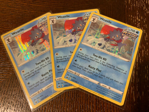 Pokemon - Weavile x3 - 031/198 - Holo Rare - Chilling Reign - NM/M