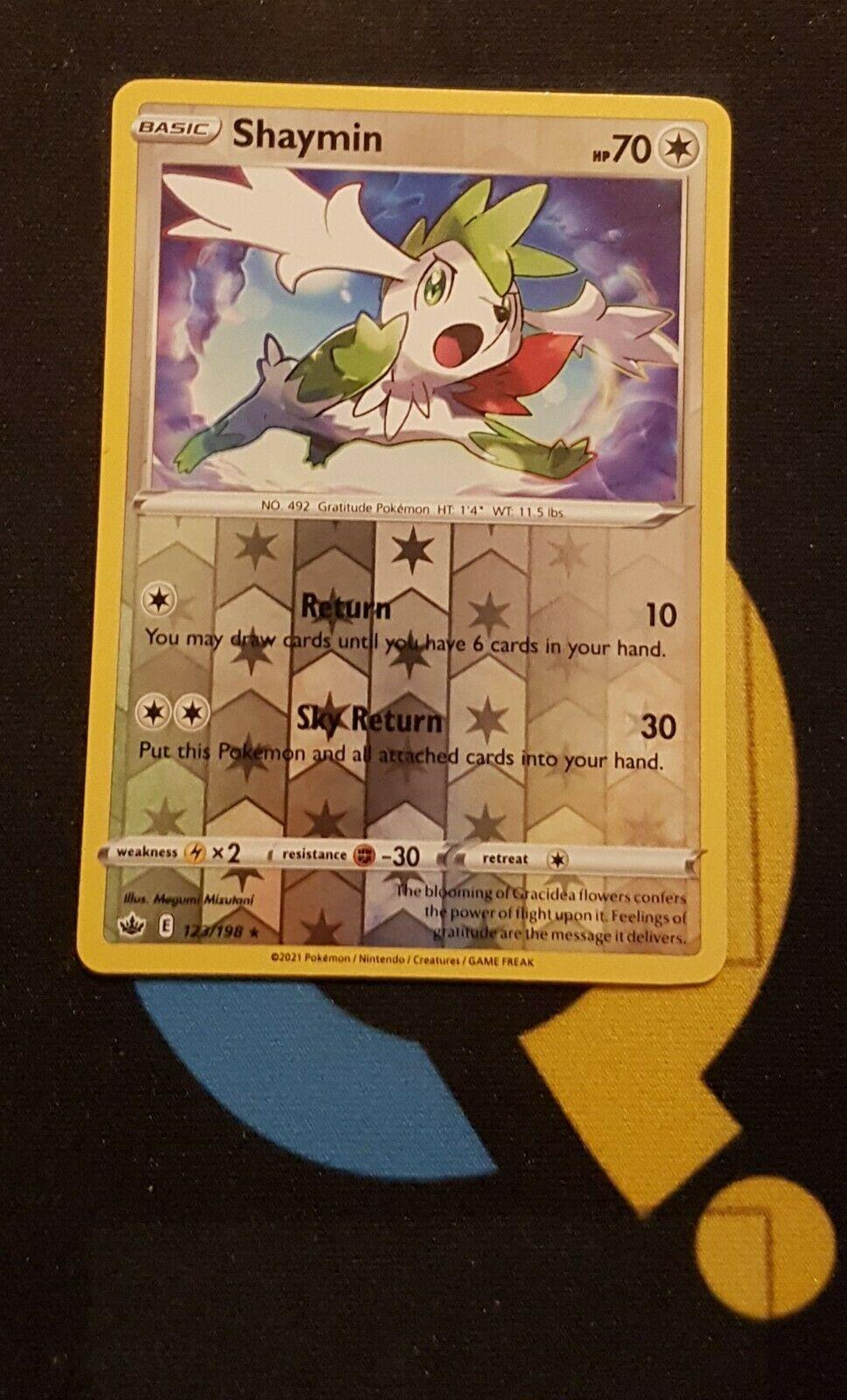 Shaymin - 123/198 Chilling Reign - Rare Reverse Holo - Pokemon