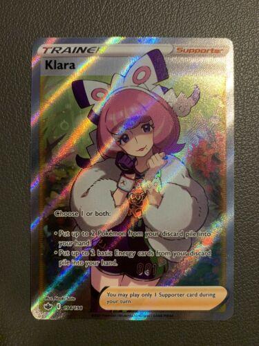 Klara Trainer 194/198 Full Art Holo - Pokemon Chilling Reign - NM/M