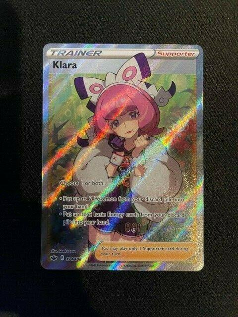 Pokémon Klara Trainer 194/198 Full Art Holo Rare Chilling Reign NM MINT