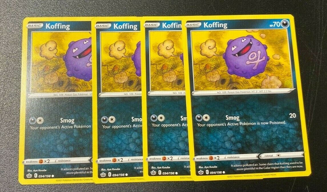 PLAYSET - Pokemon - Koffing x4 - Chilling Reign - 094/198 - Common
