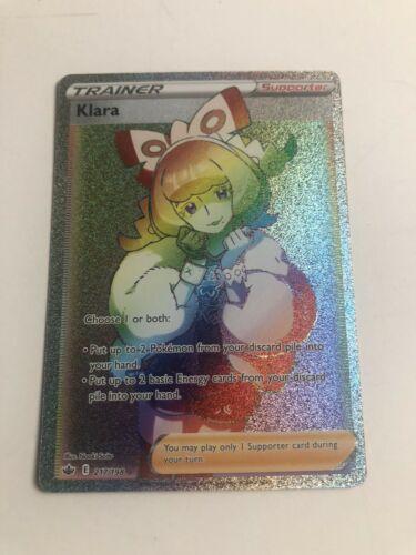 Pokemon TCG: Chilling Reign 217/198 -KLARA- Rainbow Rare
