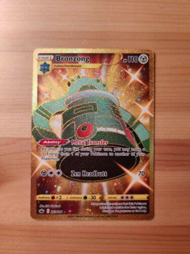 Pokemon Chilling Reign Bronzong 223/198 Gold Secret Rare - NM